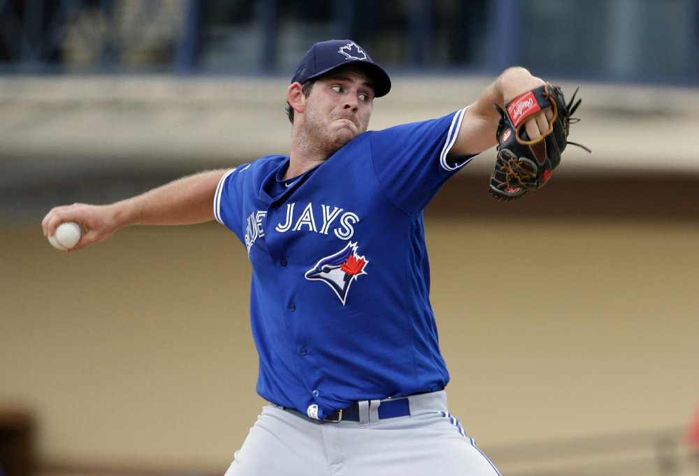 With spring training now underway, it's still unclear whether right-hander Joe Biagini will start or relieve for the Toronto Blue Jays in 2018. Photo Credit: Jay Blue