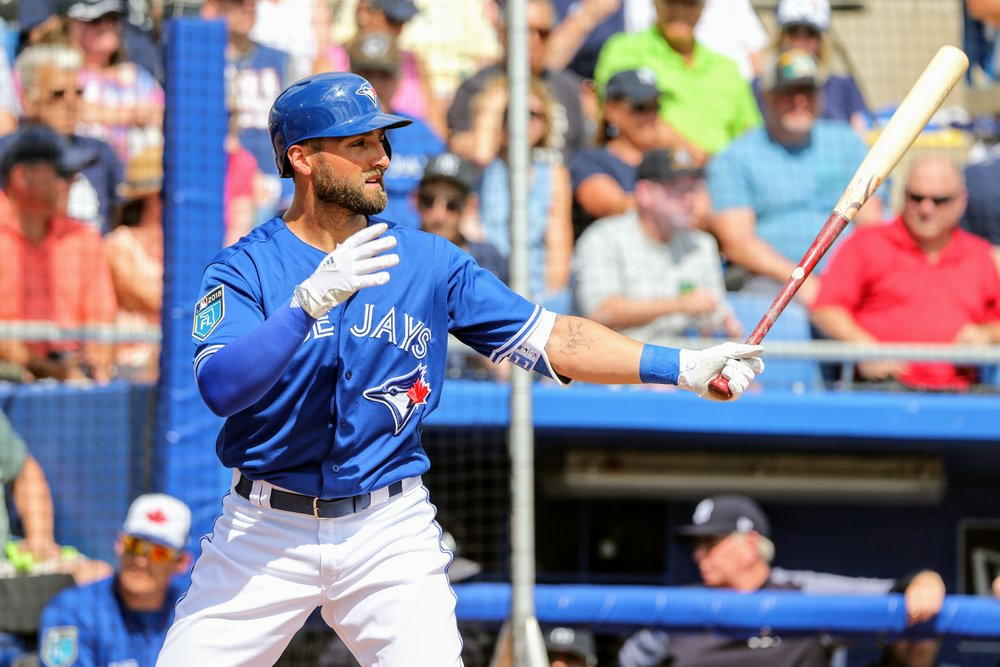 Blue Jays centre fielder Kevin Pillar was 2-for-2 with a double and a single.
