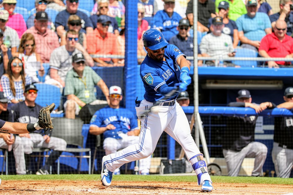 Blue Jays second baseman Devon Travis was 1-for-3 hitting out of the leadoff spot.