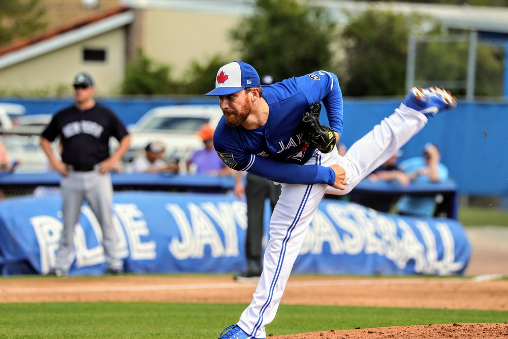 Blue Jays pitching prospect Sean Reid-Foley was roughed up for five runs (three earned) in 1 1/3 innings and took the loss.