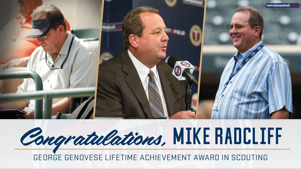 Mike Radcliff won the George Genovese lifetime achievement award from the Professional Scout Foundation.