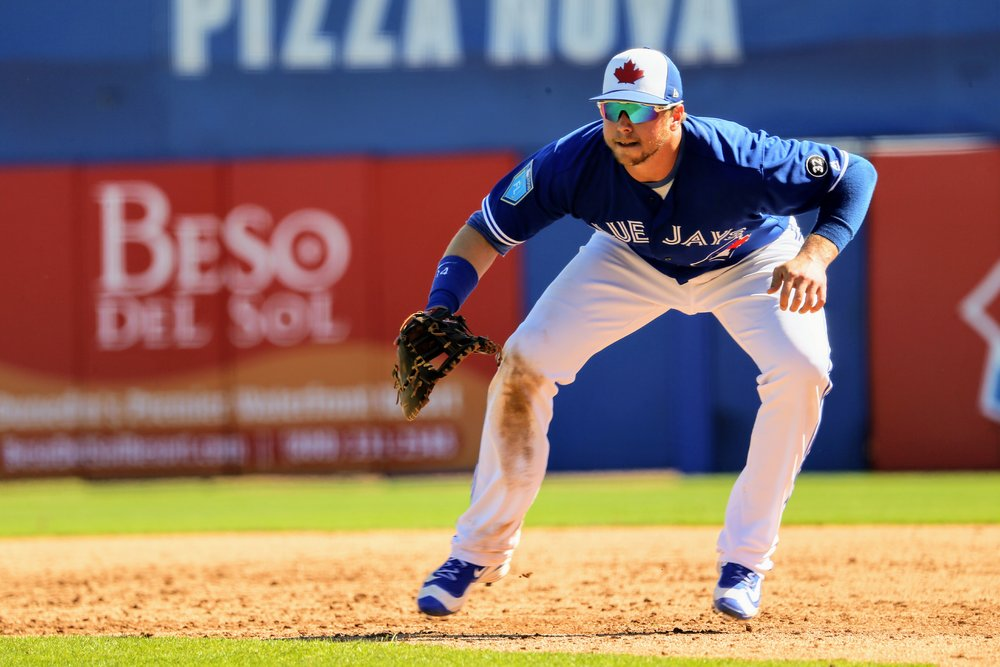 Blue Jays first baseman Justin Smoak was 1-for-2 with a walk in three plate appearances and was also solid in the field.