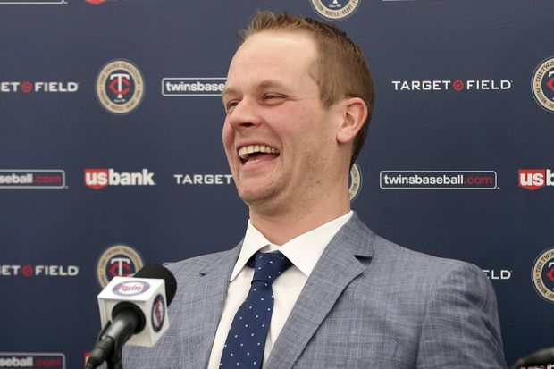 Justin Morneau (New Westminster, BC) at the press conference annnouncing he has joined the Minnesota Twins front office.