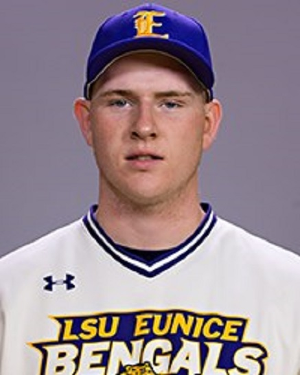 Ontario Blue Jays' RHP Nathan Holmes (Mississauga, Ont.) worked two scoreless for the LSU Eunice Bengals.