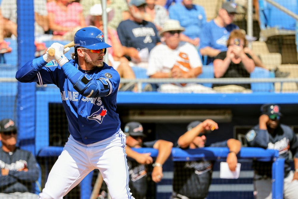 Third baseman Josh Donaldson singled and walked in two at bats.