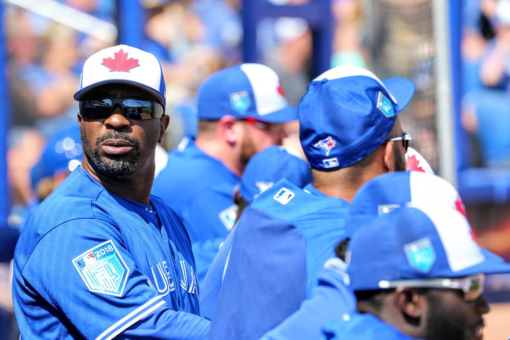 Legendary Blue Jays centre fielder Devon White, who will be a coach with the triple-A Buffalo Bisons this season, was spotted in the Blue Jays dugout.
