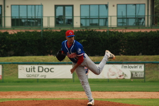 ABC grad LHP Miguel Cienfuegos (Laval, Que.) a two-way man for Northwest Florida State Raiders, had seven hits and six RBIs.