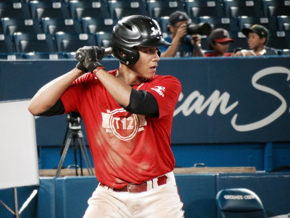 Okotoks Dawgs infielder/outfielder Cesar Valero has been selected to the Canadian Junior National Team's spring roster. Photo Credit: Tyler King