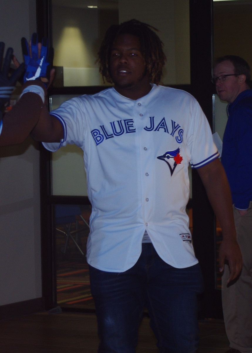 The Toronto Blue Jays No. 1 prospect, Vladimir Guerrero Jr. (Montreal, Que.) is likely to begin the 2018 season with the double-A New Hampshire Fisher Cats. Photo Credit: Jay Blue