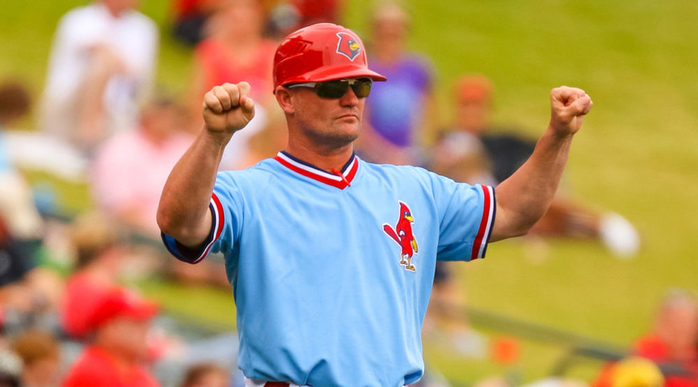 Windsor, Ont., native Stubby Clapp was named the St. Louis Cardinals George Kissell Award winner for excellence in player development on Friday. Photo Credit: Memphis Redbirds