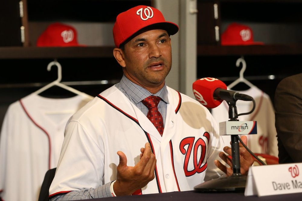Former Montreal Expos outfielder Dave Martinez is taking a relaxed approach with reporters this spring in his first big league managerial job with the Washington Nationals. Photo Credit: Geoff Burke/USA Today Sports
