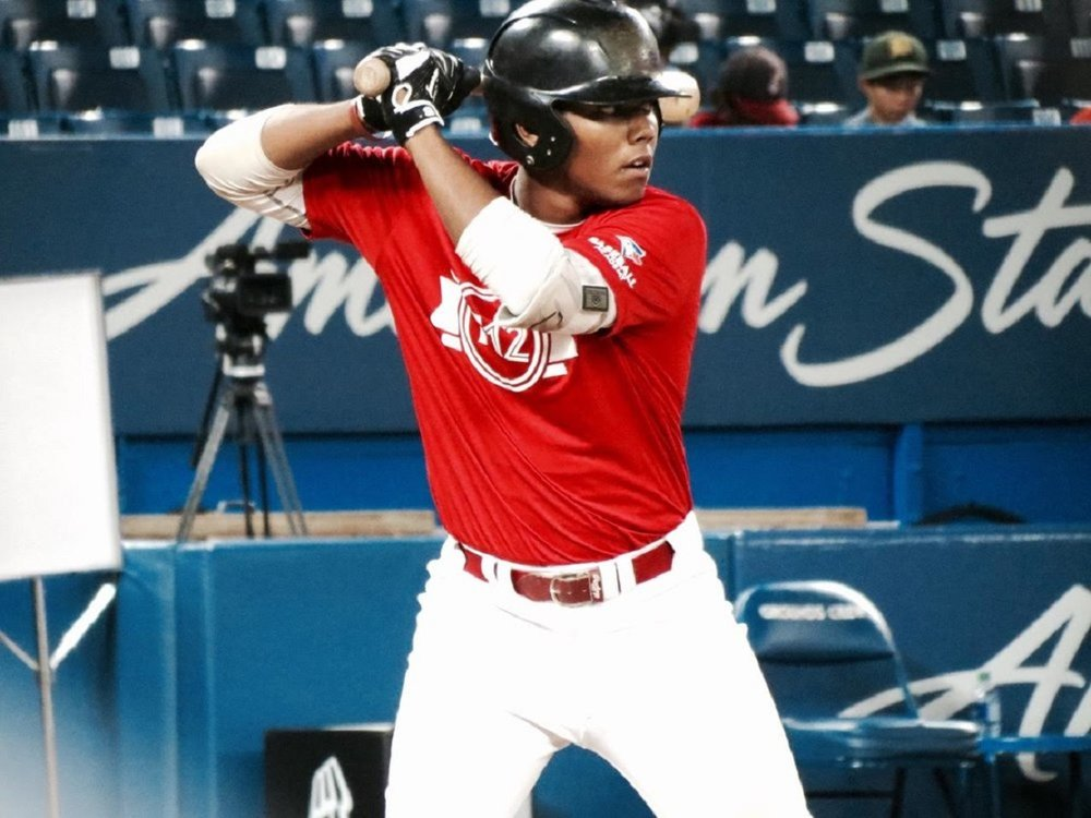 Okotoks Dawgs 3B LaRon Smith (Spruce Grove, Alta.) at Tournaament 12. Photo: Tyler King.