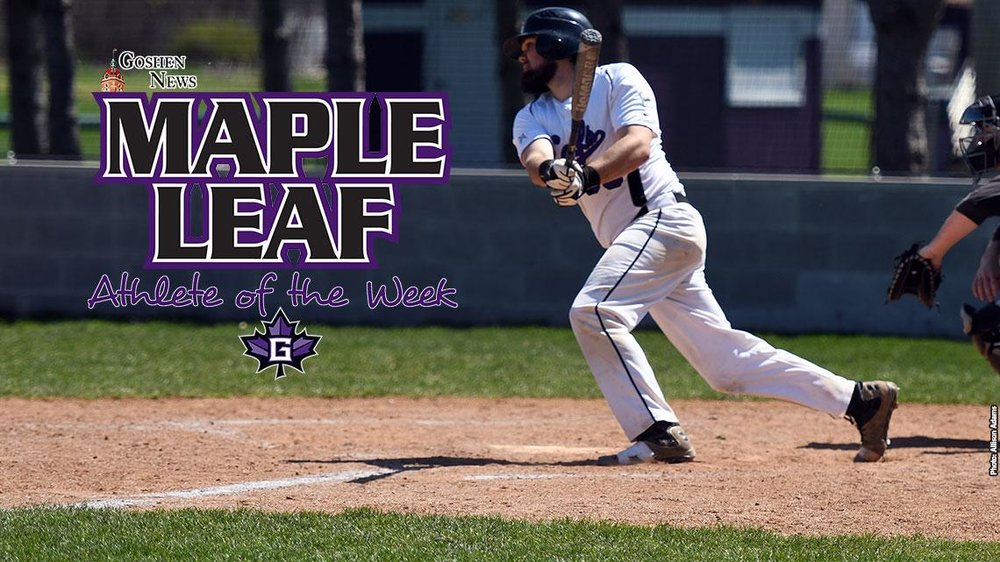 Former London Badgers Ryan Hartig (Woodstock, Ont.) oof the Goshen Maple Leafs led all Canuck hitters with a .636 average.