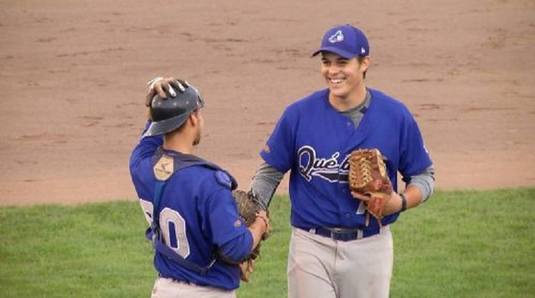 Charlesbourg Alouettes' RHP Olivier Mailloux (Ville De Quebec, Que.) for the Northwestern Ohio Racers