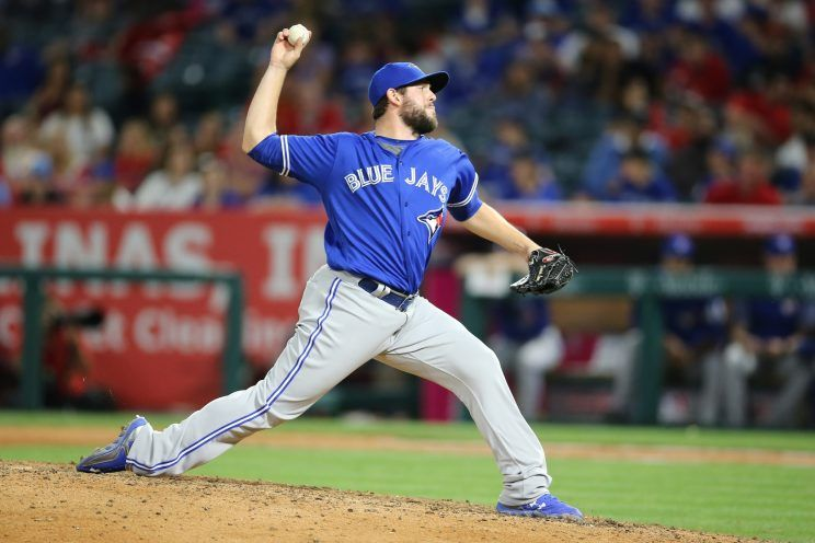 Dominic Leone, one of the Toronto Blue Jays' top relievers in 2017, was dealt to the St. Louis Cardinals earlier this off-season as part of the package for outfielder Randal Grichuk. Photo Credit: Peter Joneleit, Cal Sport Med/Rex