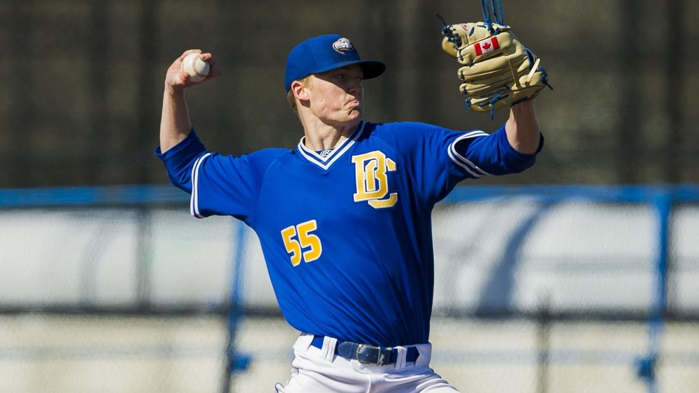 North Shore Twins grad James Bradwell (Gibsonns, BC) pitched UBC's only win at Coorban.
