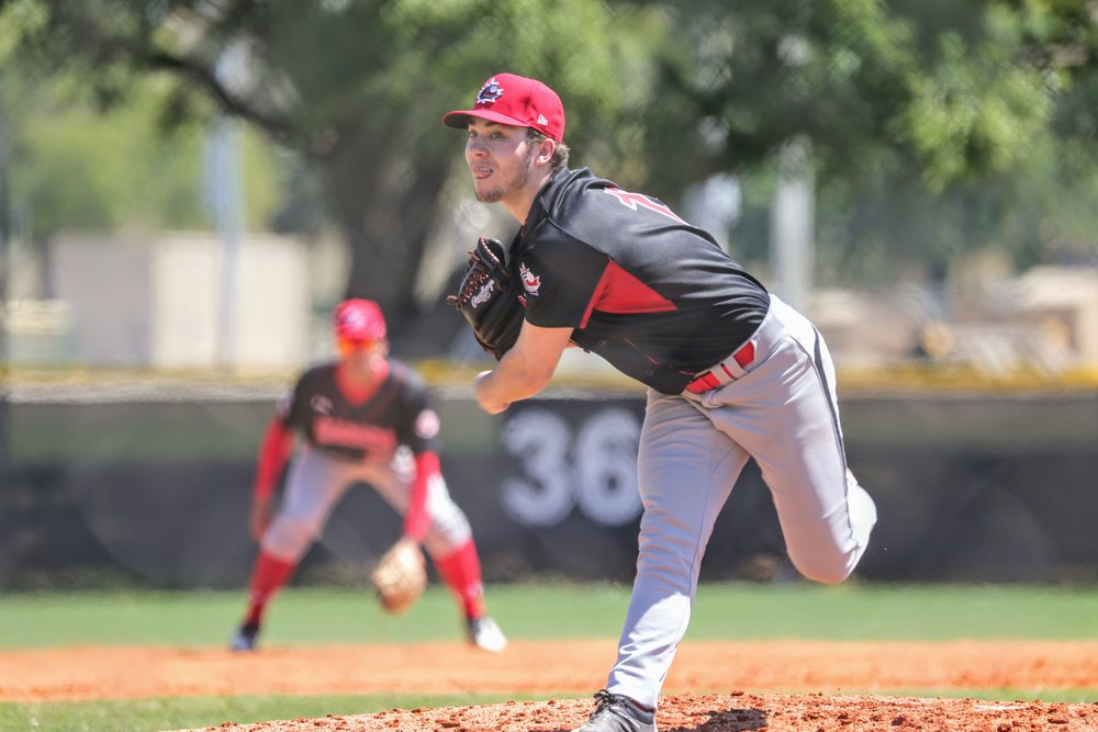 LHP Jaden Griffin (Lower Sackville, N.S.) struck out four in two scoreless innings.