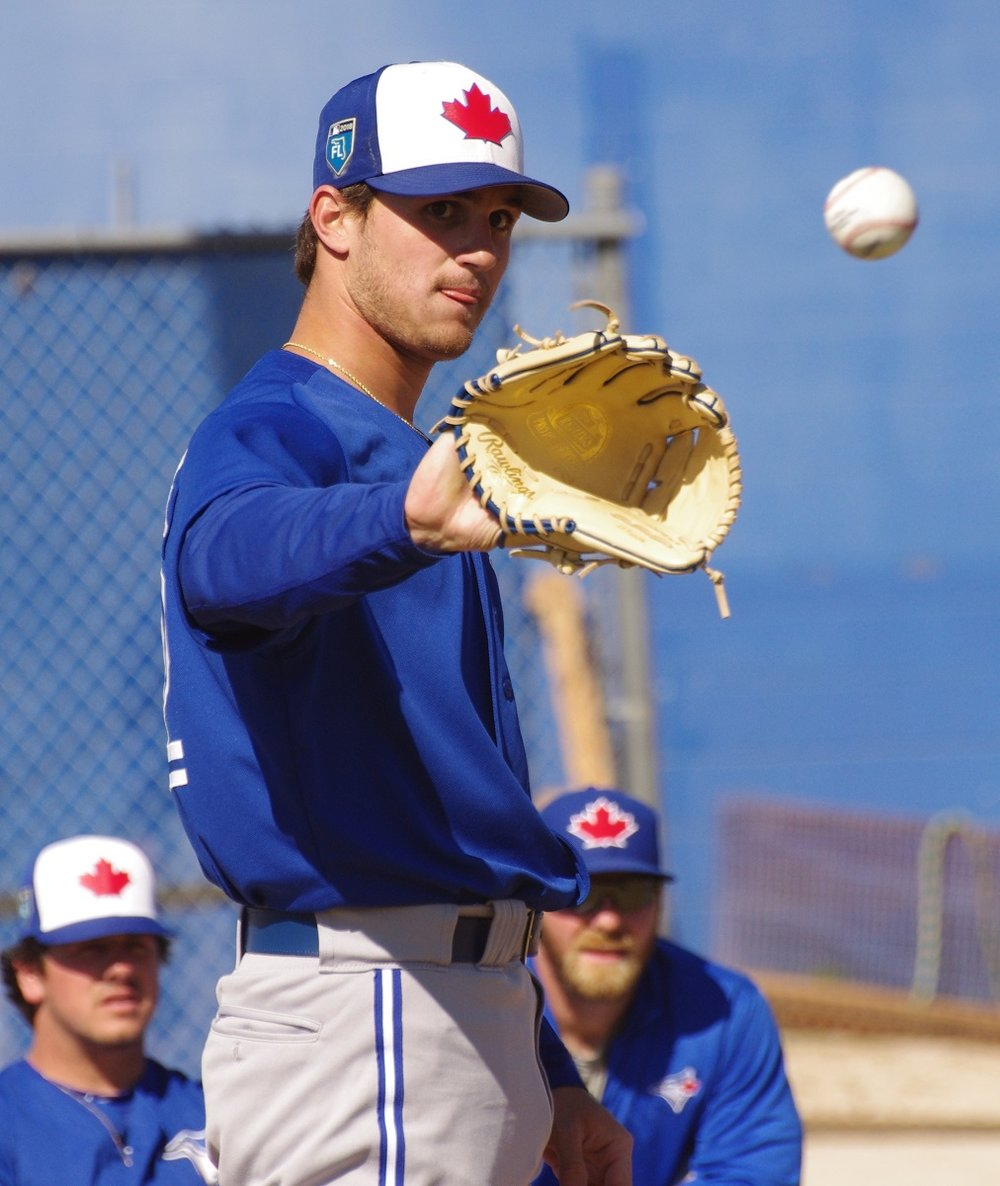 Toronto Blue Jays left-handed pitching prospect Thomas Pannone has been suspended for 80 games. Photo Credit: Jay Blue