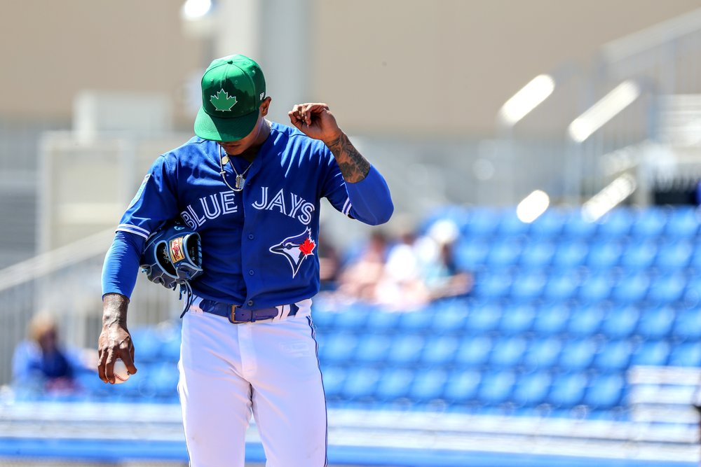 Right-hander Marcus Stroman made his first spring start and didn't allow a hit or a run in two innings.