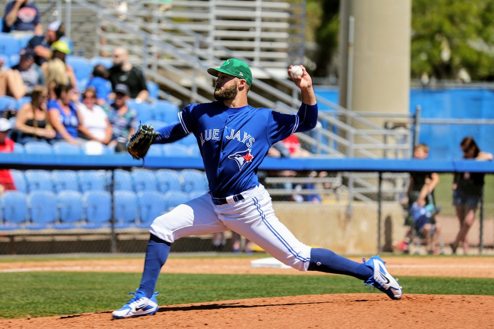 Left-hander Shane Dawson (Drayton Valley, Alta.) pitched two scoreless innings in relief for the Blue Jays.