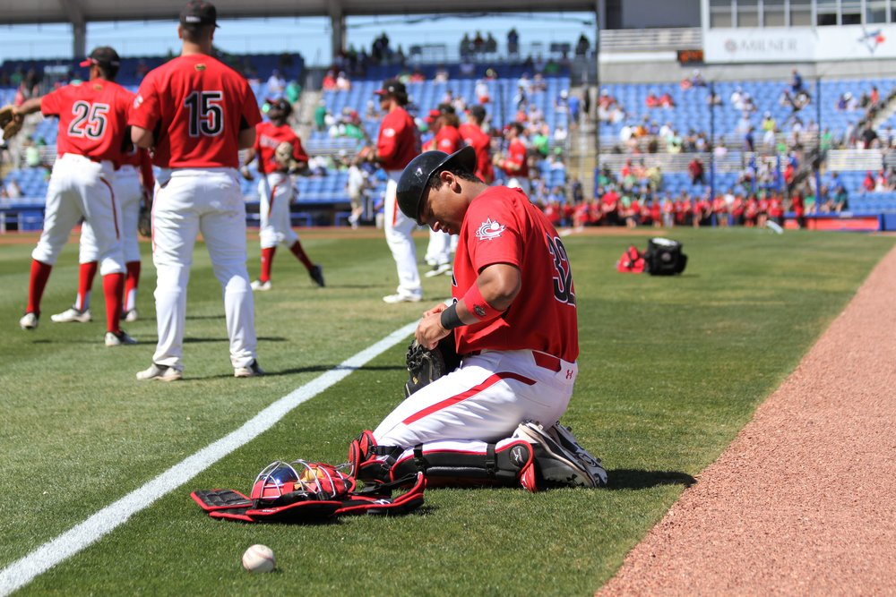 "Noah Naylor (Mississauga, Ont.)  tightens the laces of his catcher's mitt before the game.         Normal     0                     false     false     false         EN-CA     X-NONE     X-NONE                                                                                                                                                                                                                                                                                                                                                                                                                                                                                                                                                                                                                                                                                                                                /* Style Definitions */  table.MsoNormalTable 	{mso-style-name:""Table Normal""; 	mso-tstyle-rowband-size:0; 	mso-tstyle-colband-size:0; 	mso-style-noshow:yes; 	mso-style-priority:99; 	mso-style-qformat:yes; 	mso-style-parent:""""; 	mso-padding-alt:0cm 5.4pt 0cm 5.4pt; 	mso-para-margin:0cm; 	mso-para-margin-bottom:.0001pt; 	mso-pagination:widow-orphan; 	mso-hyphenate:none; 	text-autospace:ideograph-other; 	font-size:11.0pt; 	font-family:""Calibri"",""sans-serif""; 	mso-ascii-font-family:Calibri; 	mso-ascii-theme-font:minor-latin; 	mso-fareast-font-family:""Times New Roman""; 	mso-fareast-theme-font:minor-fareast; 	mso-hansi-font-family:Calibri; 	mso-hansi-theme-font:minor-latin; 	mso-bidi-font-family:""Times New Roman""; 	mso-bidi-theme-font:minor-bidi;}"