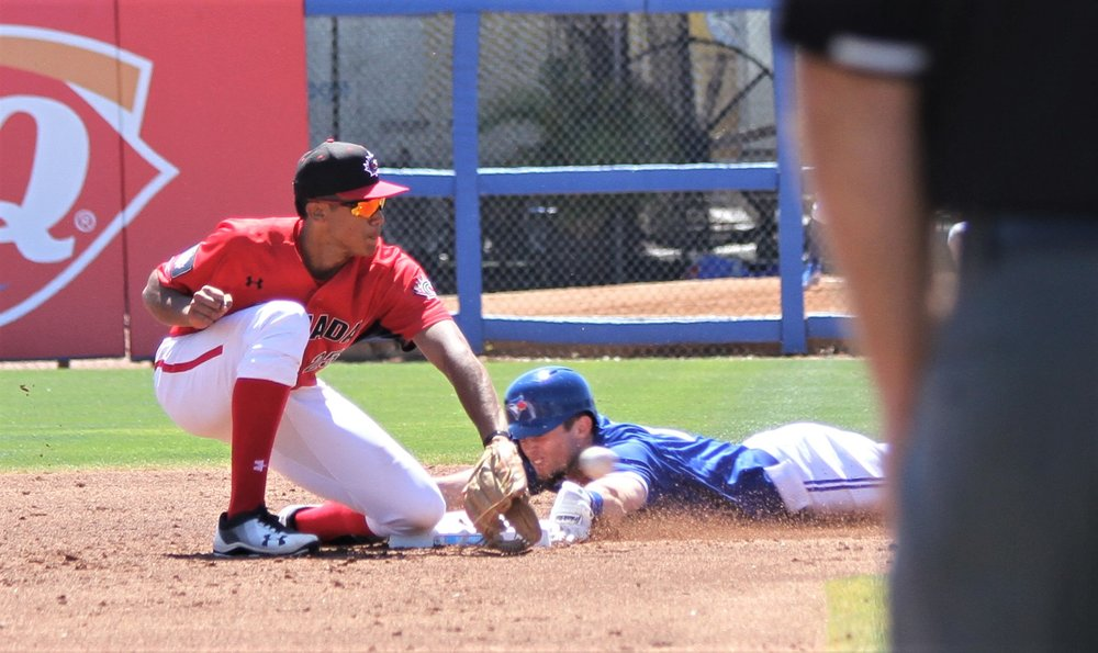 "Shortstop Cesar Valero (Calgary, Alta.) waits to apply the tag to a Blue Jays baserunner.         Normal     0                     false     false     false         EN-CA     X-NONE     X-NONE                                                                                                                                                                                                                                                                                                                                                                                                                                                                                                                                                                                                                                                                                                                                /* Style Definitions */  table.MsoNormalTable 	{mso-style-name:""Table Normal""; 	mso-tstyle-rowband-size:0; 	mso-tstyle-colband-size:0; 	mso-style-noshow:yes; 	mso-style-priority:99; 	mso-style-qformat:yes; 	mso-style-parent:""""; 	mso-padding-alt:0cm 5.4pt 0cm 5.4pt; 	mso-para-margin:0cm; 	mso-para-margin-bottom:.0001pt; 	mso-pagination:widow-orphan; 	mso-hyphenate:none; 	text-autospace:ideograph-other; 	font-size:11.0pt; 	font-family:""Calibri"",""sans-serif""; 	mso-ascii-font-family:Calibri; 	mso-ascii-theme-font:minor-latin; 	mso-fareast-font-family:""Times New Roman""; 	mso-fareast-theme-font:minor-fareast; 	mso-hansi-font-family:Calibri; 	mso-hansi-theme-font:minor-latin; 	mso-bidi-font-family:""Times New Roman""; 	mso-bidi-theme-font:minor-bidi;}"