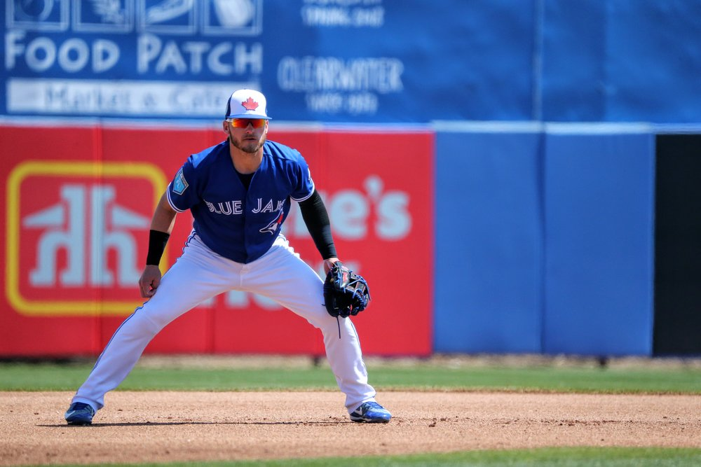 Donaldson manned third base for the Blue Jays.