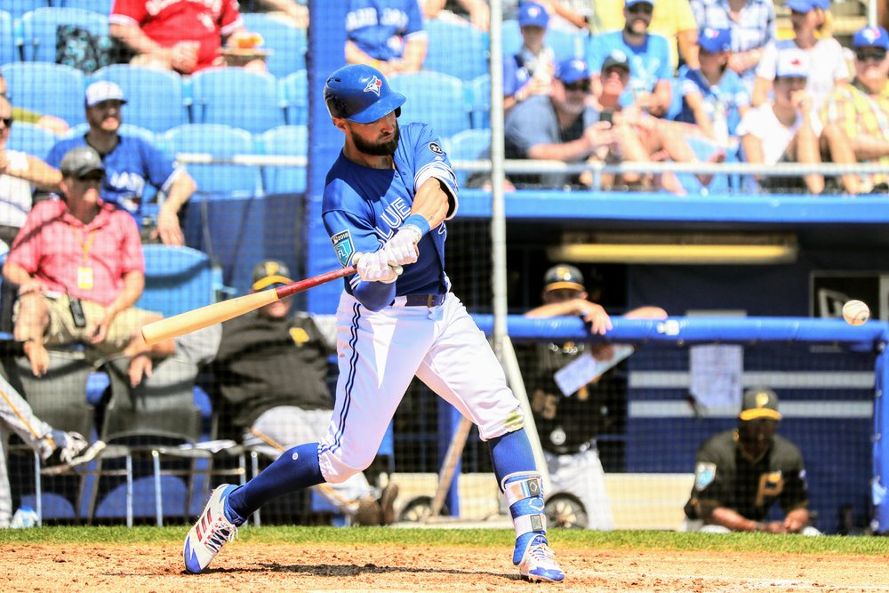 Centre fielder Kevin Pillar went 0-for-2, but at the end of the game, his spring batting average was still .471.