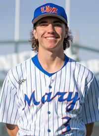 Former Ontario Bllue Jay Darius Barlas (Orangeville, Ont.) batted .545 (6-for-11) for thhe Mary Marauders.
