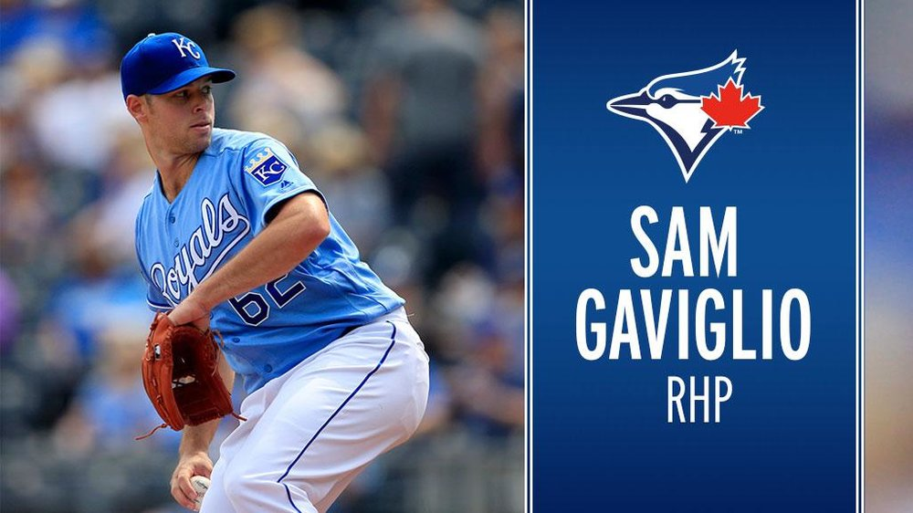 The Toronto Blue Jays acquired right-hander Sam Gaviglio from the Kansas City Royals on Wednesday. Photo Credit: Toronto Blue Jays