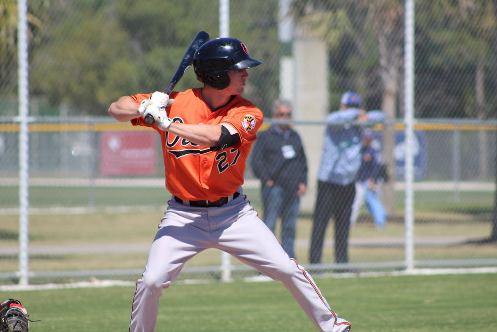 Great Lake Canadians and Canadian Junior National Team alum Adam Hall (London, Ont.) was one of the Baltimore Orioles' prospects that competed against the national team on Friday. Photo Credit: Baseball Canada