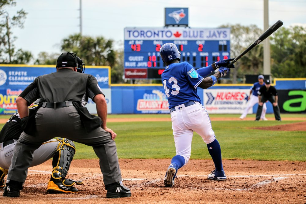 Blue Jays outfielder Roemon Fields registered two more hits. He now has a .370 batting average in 25 games this spring.