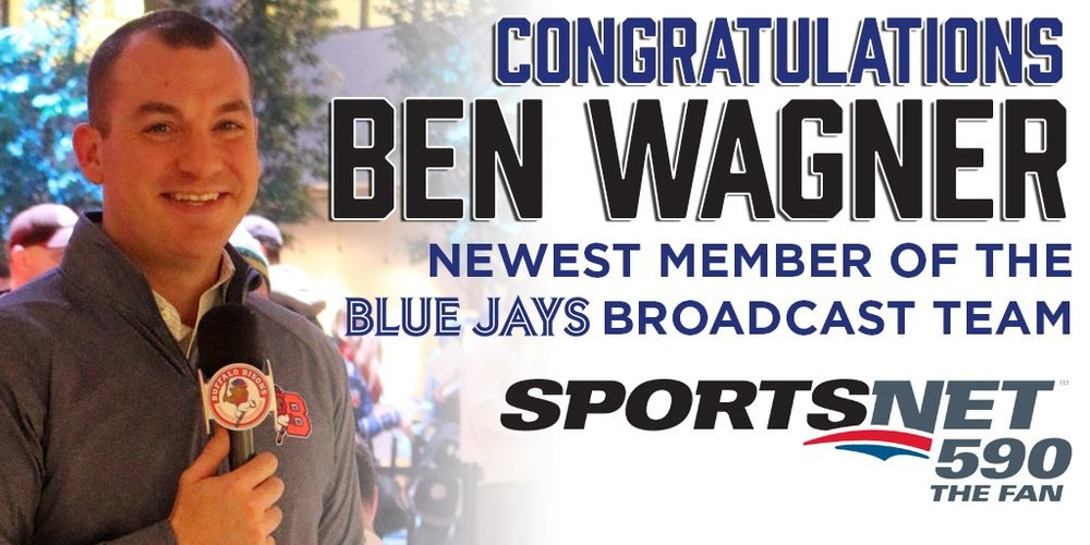 Former triple-A Buffalo Bisons play-by-play man Ben Wagner has been named to the Toronto Blue Jays' radio broadcast team. Photo Credit: Sportsnet