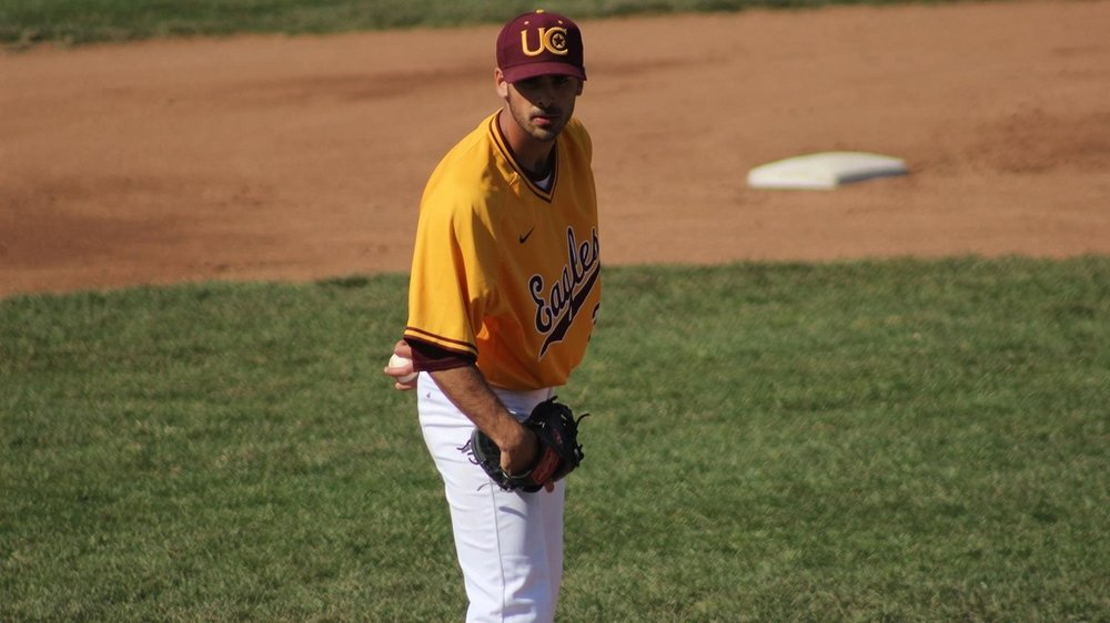 Former Toronto Mets LHP Adam Jafine (Toronto, Ont.) pitched sevenn innings for the Chaarleston Golden Eagles scored aa win.