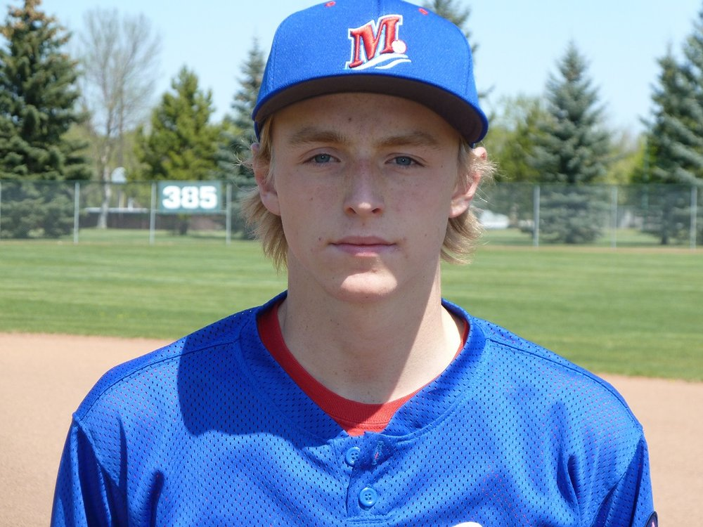 Moose Monarchs' Nathan Stark (Medicine Hat, Alta.) aallowed one unearned run in six innings.