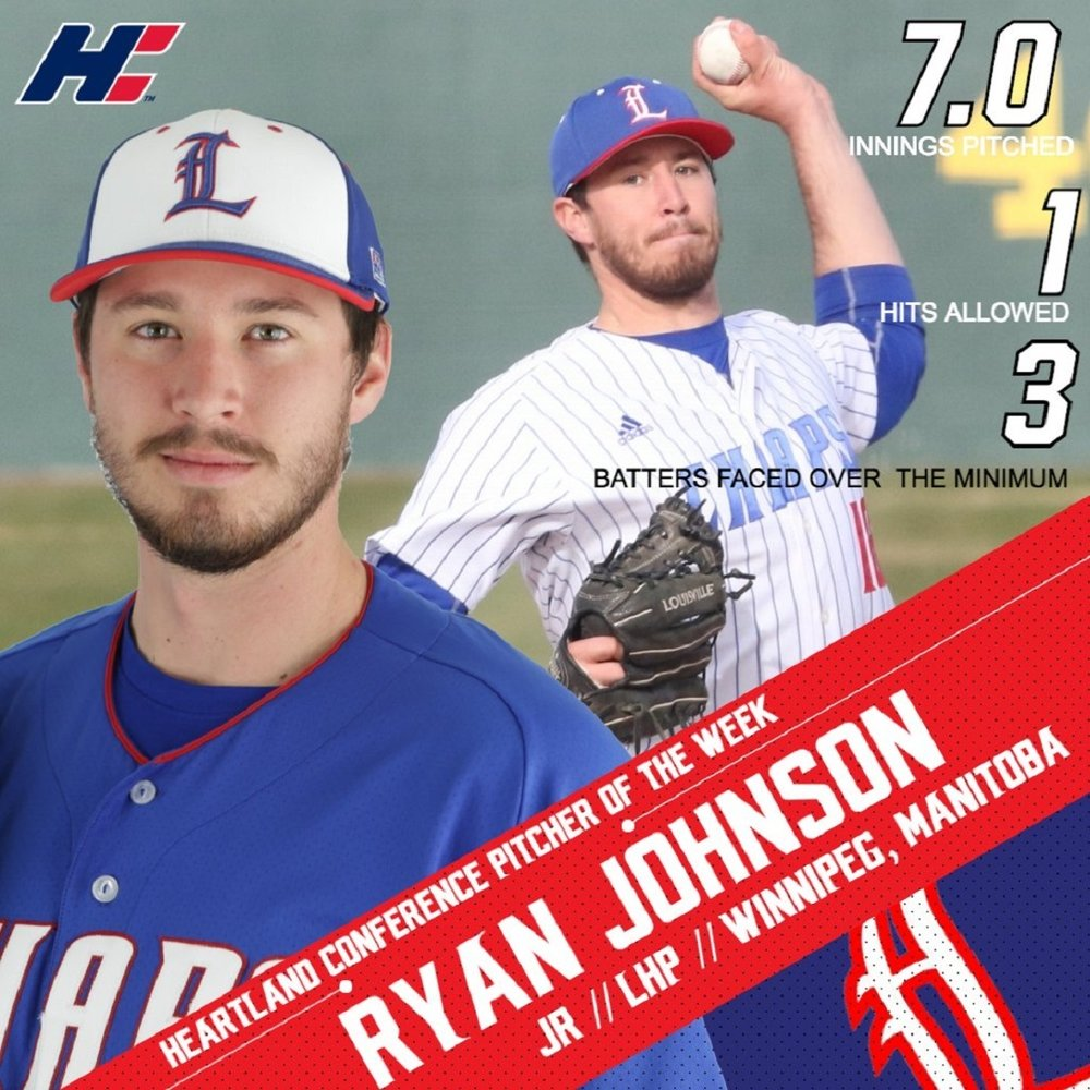 St.  James A's Ryan Johnson (Winnipeg, Man.). allowed two unearned runs in picking up the win.
