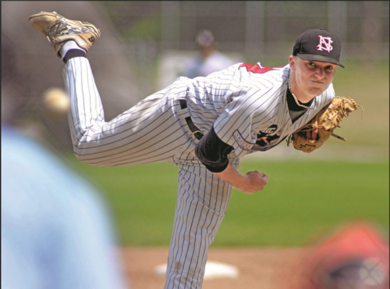 North  shore Twins' James Bradwell (Gibsons, BC) pitched seven scoreless.