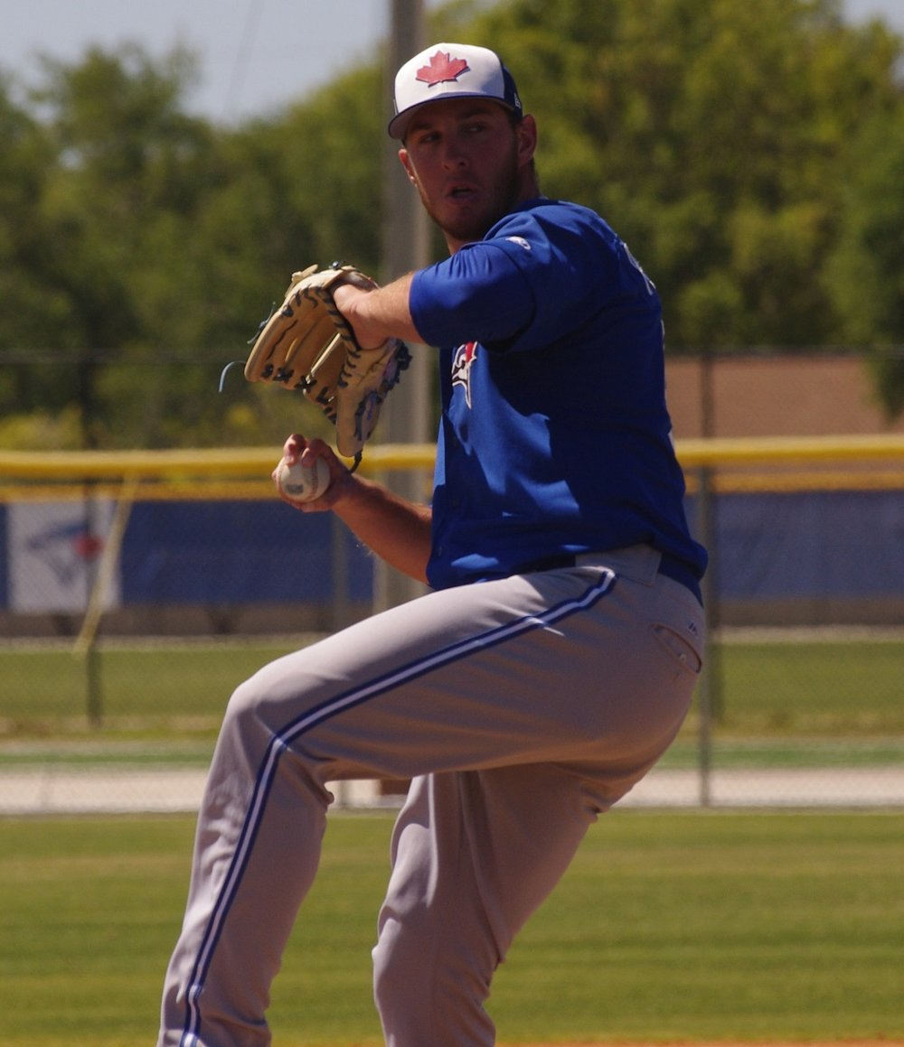 Right-hander Patrick Murphy will start the season with the class-A Advanced Dunedin Blue Jays. Photo Credit: Jay Blue