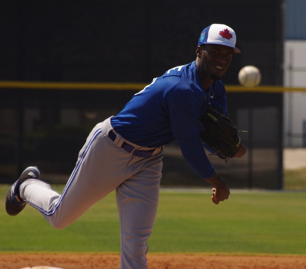 Right-hander Devin Malone will start the minor league season on the seven-day disabled list with the class-A Advanced Dunedin Blue Jays. Photo Credit: Jay Blue