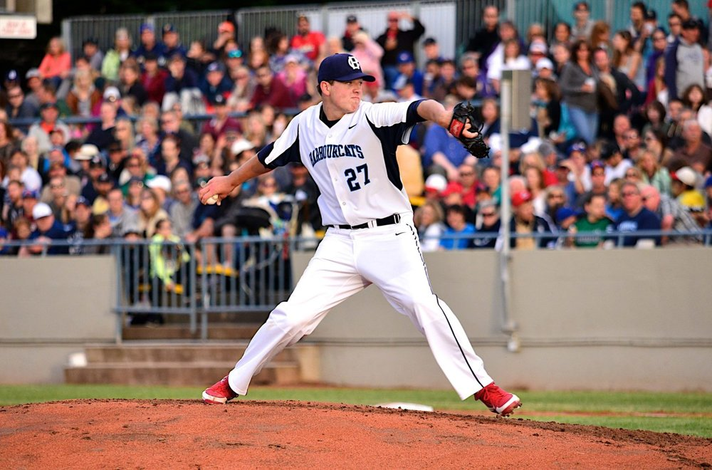 In 2013, Nick Pivetta became the first pitcher in Victoria HarbourCats history and was drafted by the Nationals two weeks later Photo: David Nicholls.
