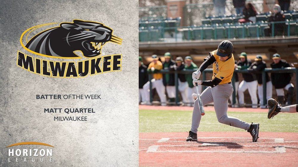Edmonton Prospects grad C Matt Quartel (Sturgeon County, Alta.) went 7-for-11 for the Milwaukee Panthers.