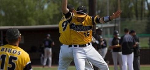 st. francis xavier grad Matt Bondarchuk (Edmonton, Alta.) had seven hits for Cloud County.