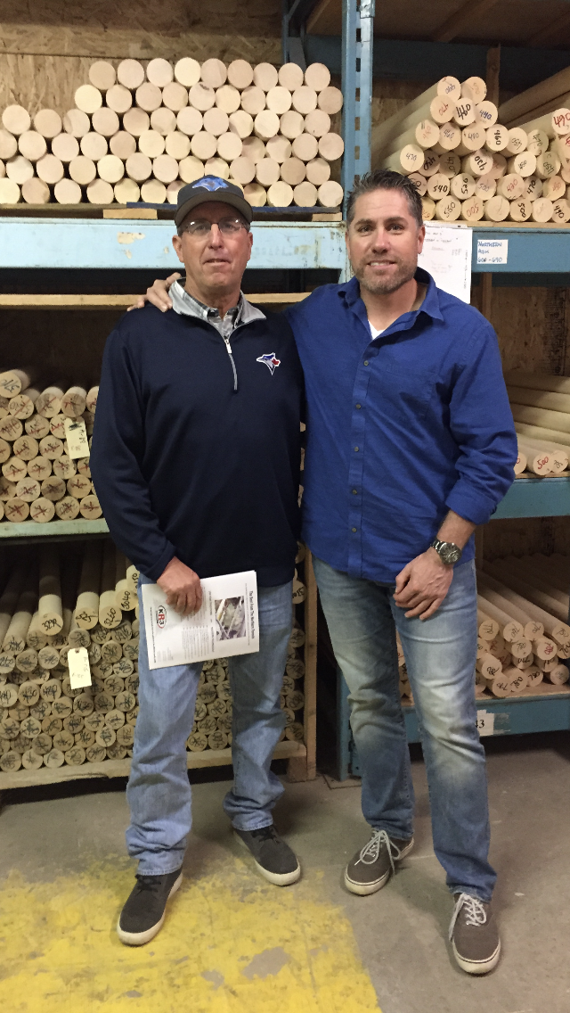 Aaron Sanchez' father Mike Shipley and Mike Hansford visit the KR3 plant in Hespeler section of Cambridge.