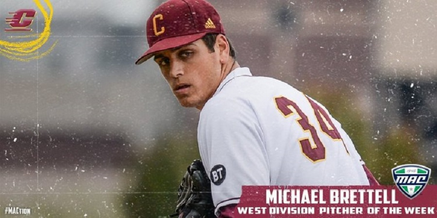 Great Lakee Canadians RHP Michael Brettell (Fonthill, Ont.) pitched 7 2/3 innings for a win over the Kent State Golden Flashes.