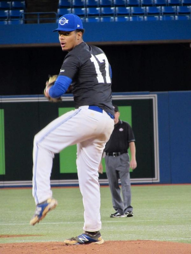 Former Ontario Blue Jays Nathan Arruda (Toronto, Ont.) pitched siix scoreless for the Tabor Bluejays.