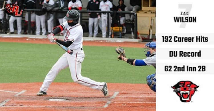 Former Ontario Royal OF Zac Wilson (New Lowell, Ont.) set the Davenport Panthers career hit record with 192.