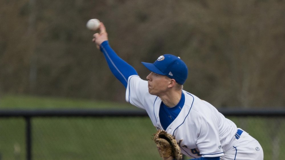 Whalley Chiefs' grad Braeden Allemann (Surrey, BC) pitched a complete game win against Corban striking out 14 for the UBC Thunderbirds.