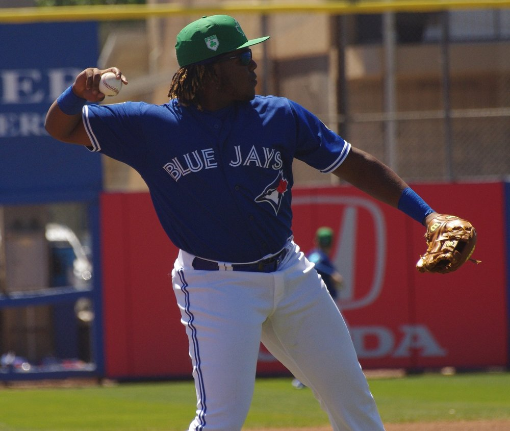 Vladimir Guerrero Jr., who was born in Montreal, has been named Eastern League Player of the Week. Photo Credit: Jay Blue