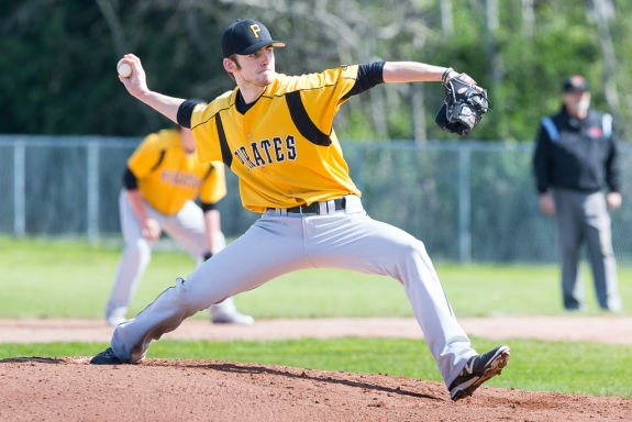 Nanaimo Pirates grad Garrett Goodall (Nanaimo, BC) pitched eight innings for the victory as Embry-Riddle Eagles.