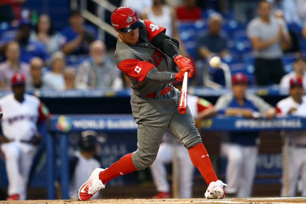 Junior National Team and Langley Blaze alum Tyler O'Neill (Maple Ridge, B.C.) has been called up by the St. Louis Cardinals. Photo Credit: Baseball Canada